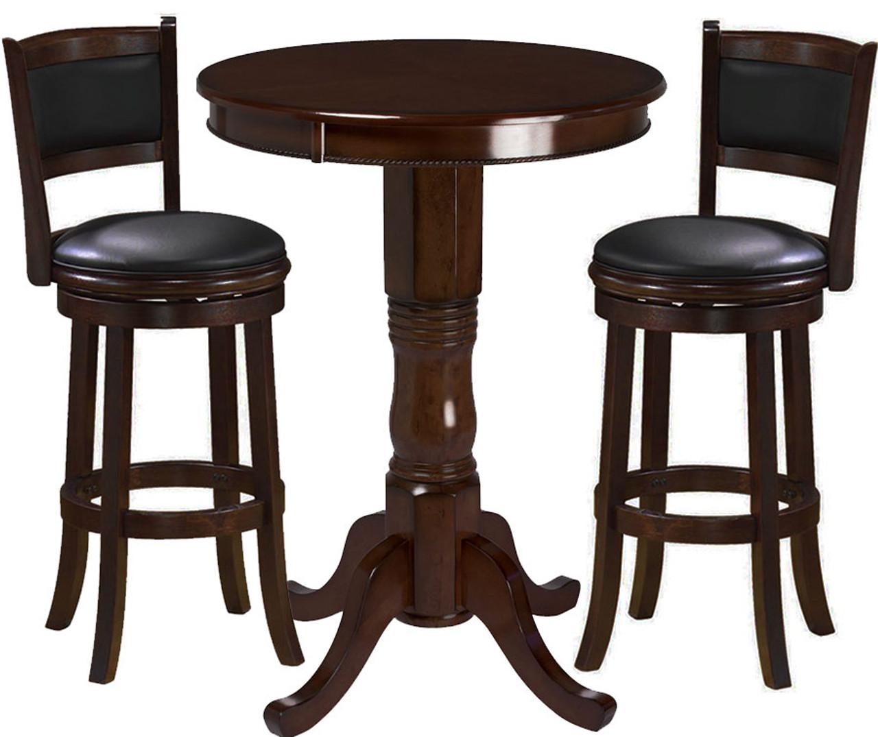 Ram Pub Table Set 3 Piece Cappuccino