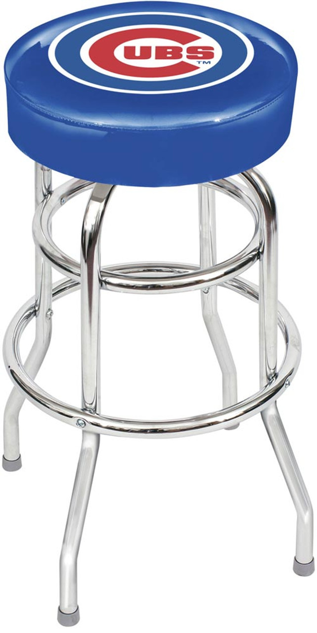 Chicago Cubs Chrome Bar Stool