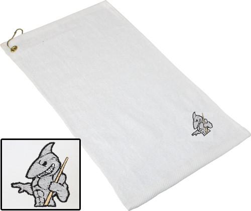 Ozone Billiards Big Shark Towel - White - Free Personalization