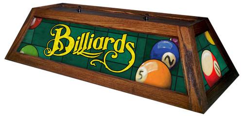 Classic Green Billiards Pool Table Light Mahogany Stain