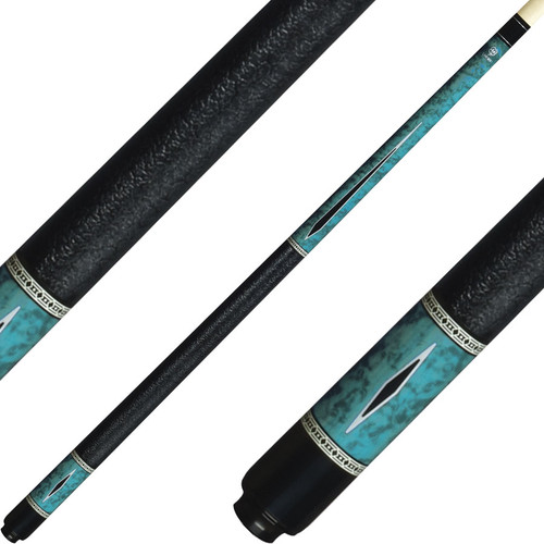Lucky Cues Blue Burl Wood