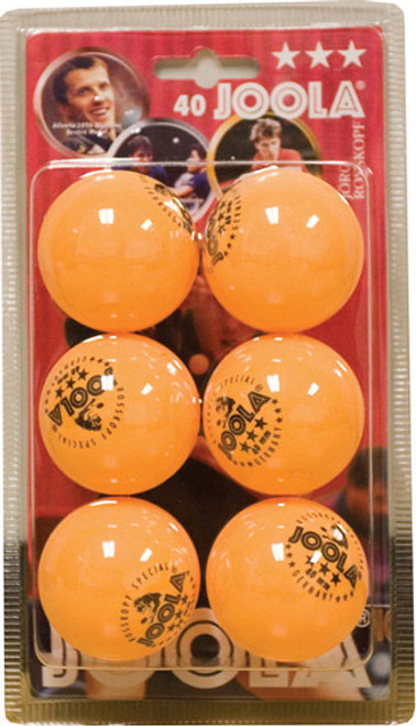 Joola Rossi 3 Star Table Tennis Balls - 6 Pack Orange