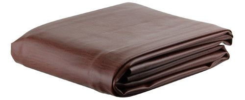 Ozone Brown Leatherette Pool Table Cover - 9 Foot