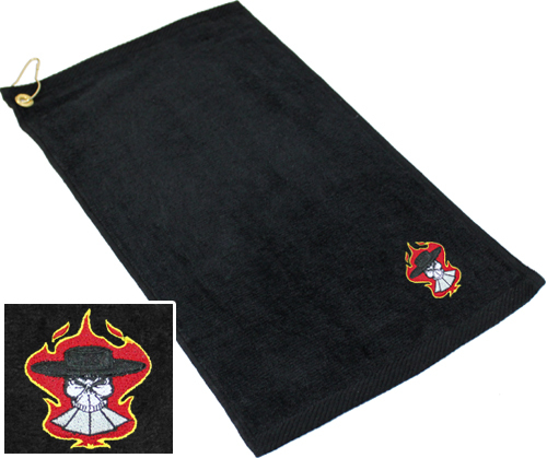 Ozone Billiards Gambling Outlaw Towel - Black - Free Personalization