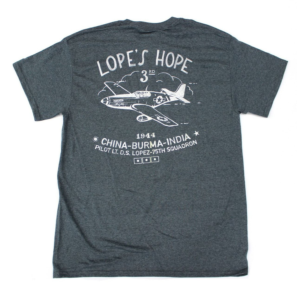 Lope's Hope 3rd Pilot Tee - Charcoal - Back