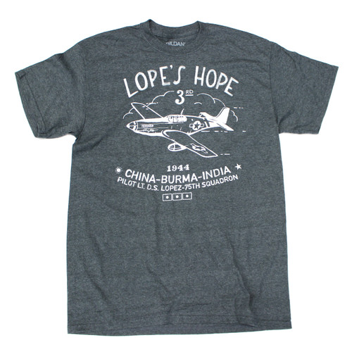 Lope's Hope 3rd Tee - Charcoal - Front