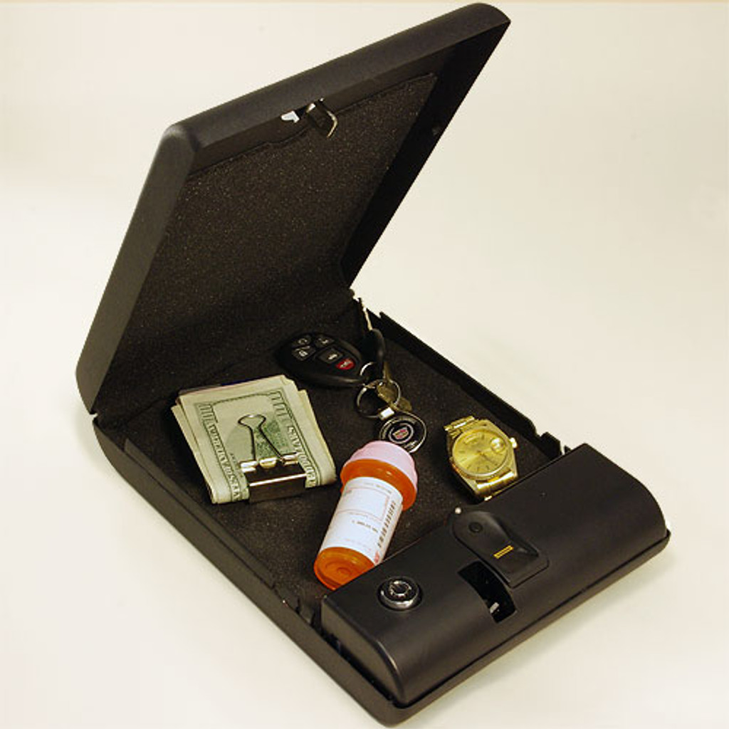 BioBox  Opened Case Protecting Valuables