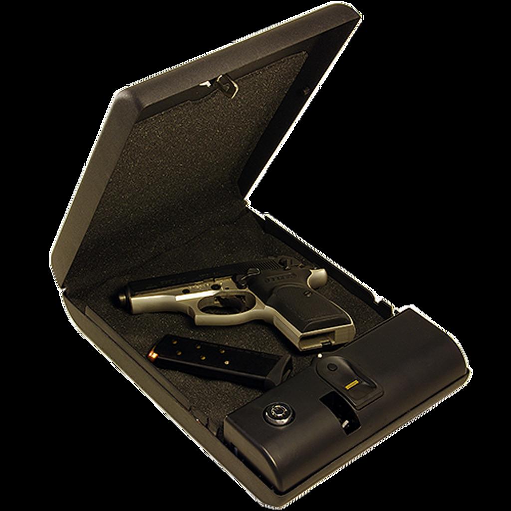BioBox Opened Case Promoting Gun Safety