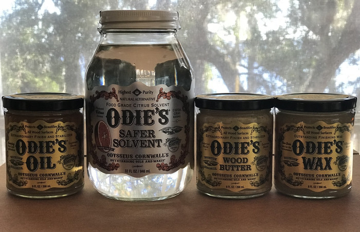 Kit 2 - Odie's Oil, Odie's Wood Butter, Odie's Wax, Odie's Safer Solvent