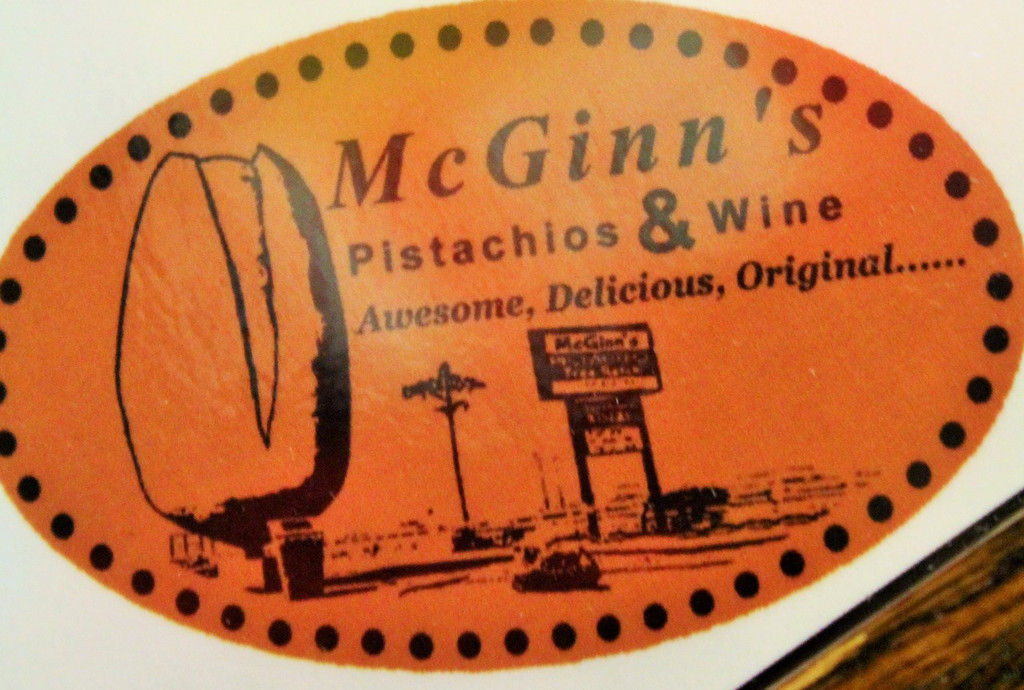 MGinn's Pistachio Tree Ranch Sign and the World's Largest Pistachio.