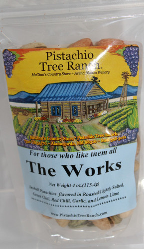 The Works in shell pistachios 4 oz. poly bag