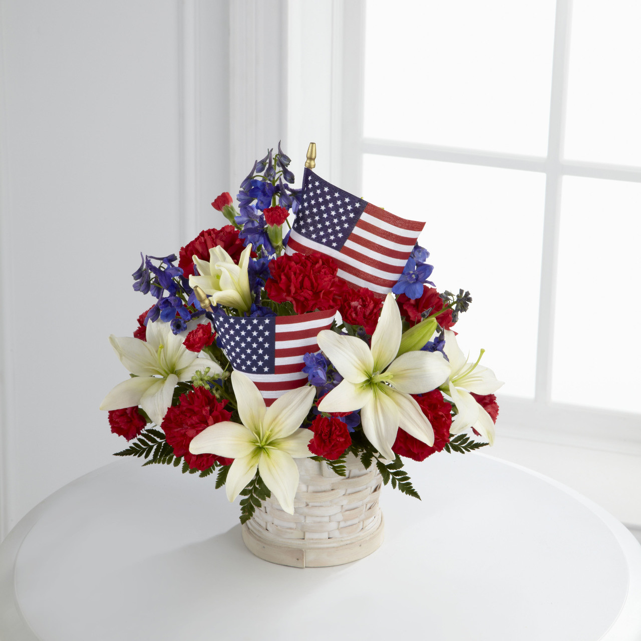 Theamerican Glory Bouquet Bursts With Patriotic Pride And Heartfelt