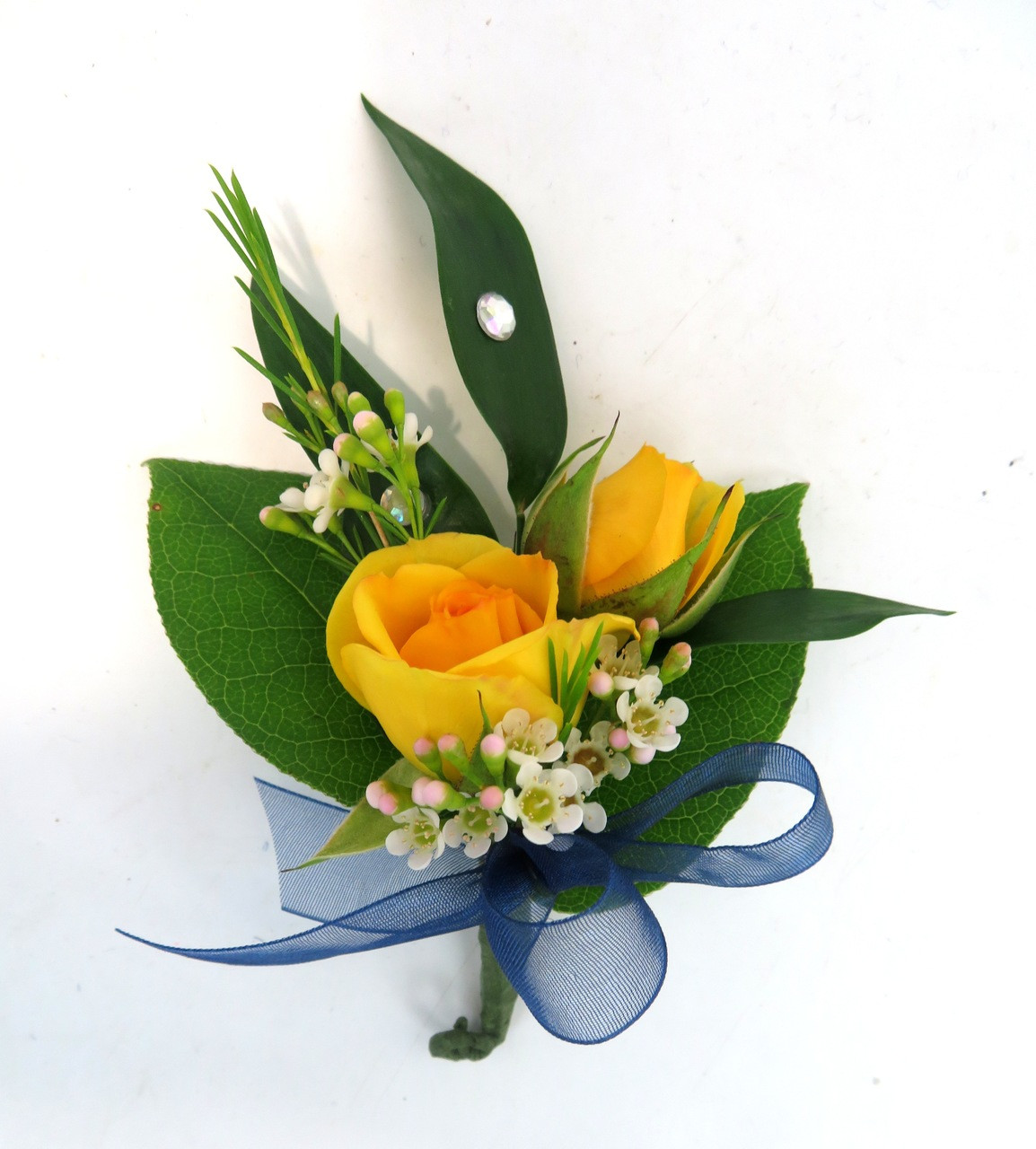 Classic Sweetheart Rose Prom Boutonniere - Georgetown Flowers & Gifts