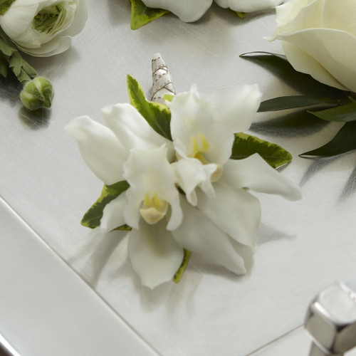 TheWhite Mini Cymbidium Boutonniere