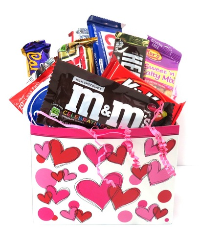 Valentine's Day Snack Basket