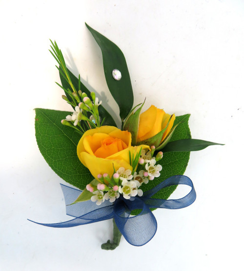 Classic Sweetheart Rose Prom Boutonniere