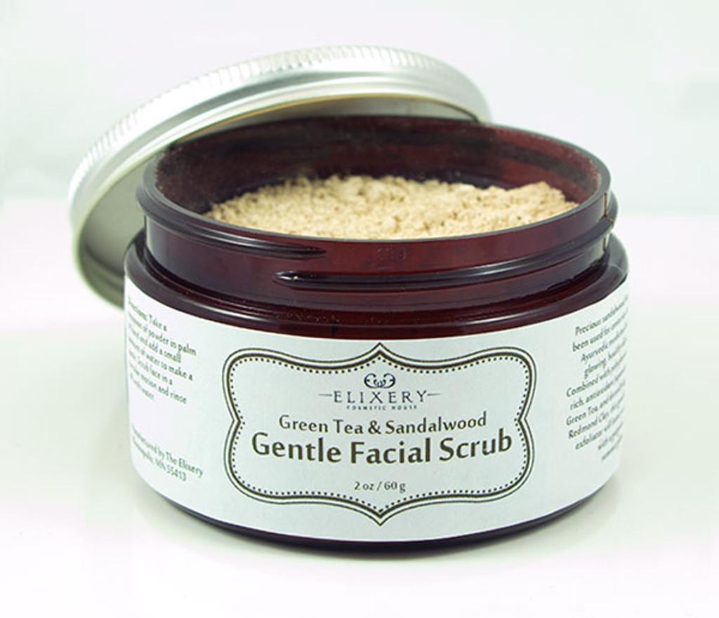 Green Tea & Sandalwood Gentle Facial Scrub