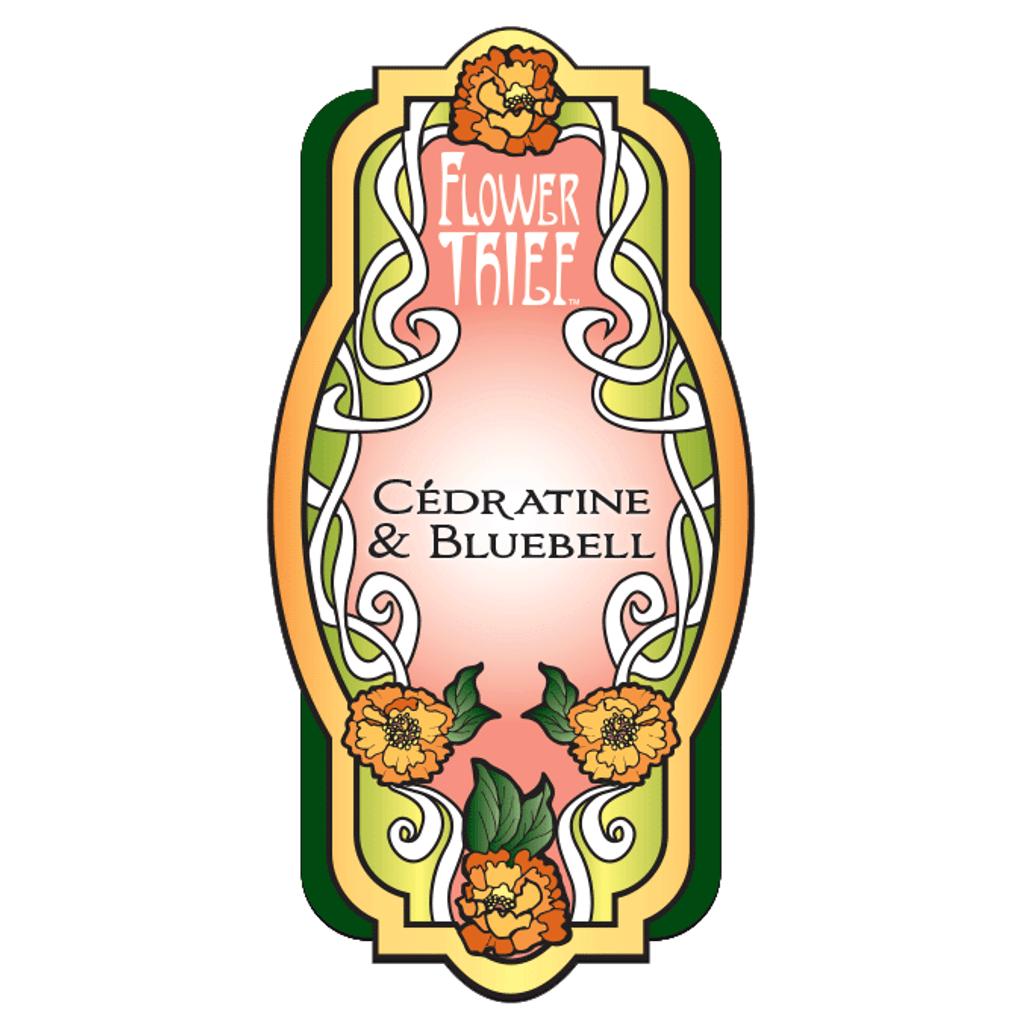Flower Thief -Cedratine & Bluebell Perfume Label