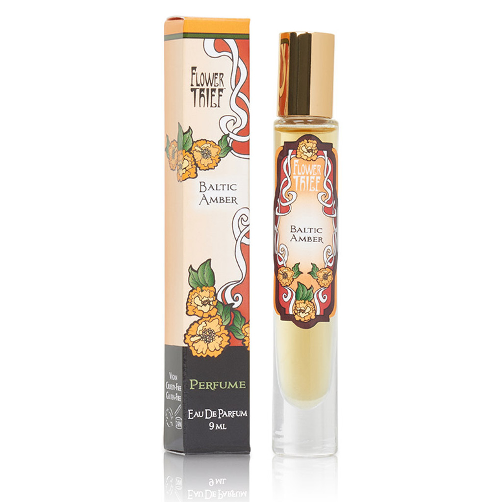 Dark and sensual perfume in Baltic Amber - Flower Thief line by Elixery