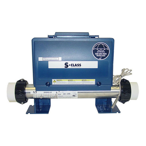 Gecko S Class spa control pack, 4kw heater, 2 pumps + circ pump, blower, mini J&J plugs