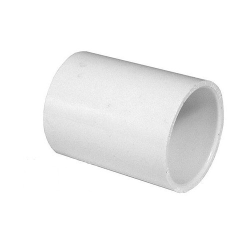 "White PVC Coupling - 1-1/4"" Slip socket"