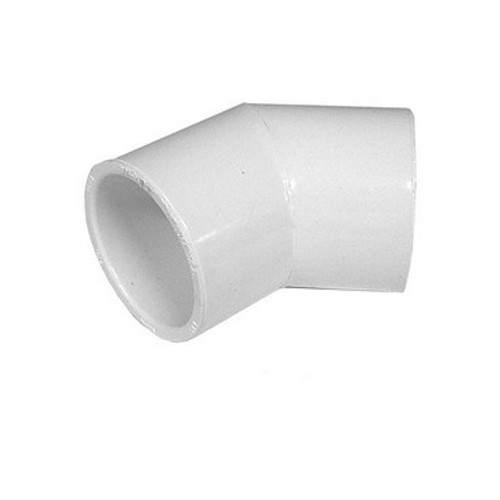"White PVC Elbow - 1/2"" Slip, 45 Degrees"