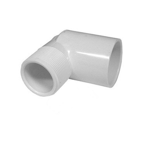 "PVC Street Elbow - 1/2"" Slip x 1/2"" MPT Thread"