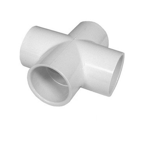"PVC Plumbing Cross - 2"" Slip (All Sides)"