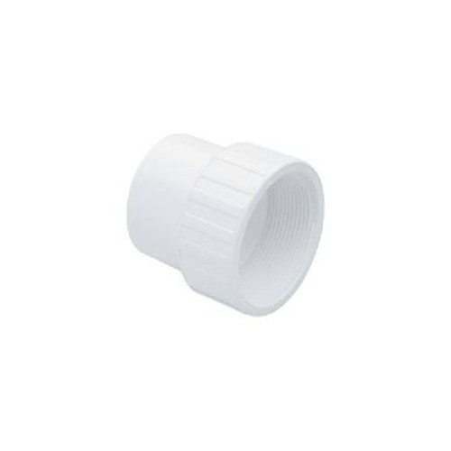 "White PVC Female Adapter - 2"" Spigot x 2"" FPT"