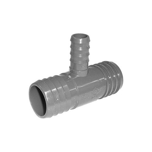 "PVC Insert Fitting Tee- 1-1/2"" x 1-1/2"" x 3/4"" Barbed"