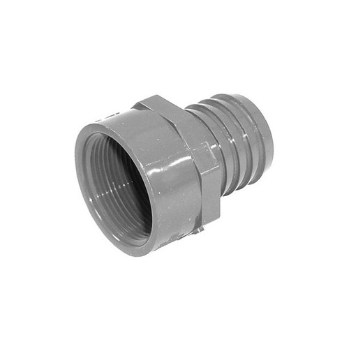 """PVC Insert Fitting Female Adapter - 1-1/2"""" Barb x 1-1/2"""" FPT"""