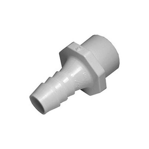 "PVC Barb Adapter - 1"" Spigot/ 3/4"" Slip x 3/4"" Barb"