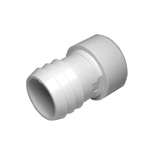"""PVC Barb Adapter - 1-1/2"""" Spigot x 1-1/2"""" Barb"""