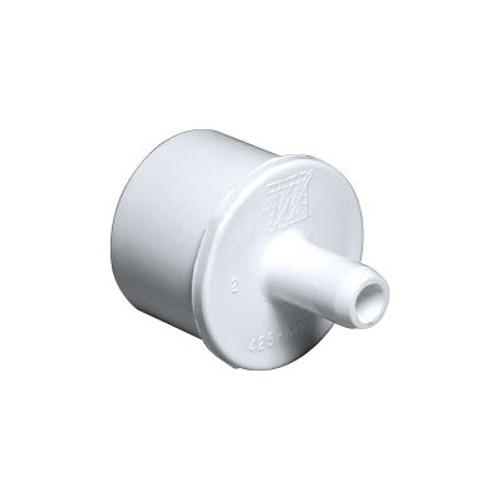 """PVC Barb Adapter - 1"""" Spigot x 3/8"""" Barb"""
