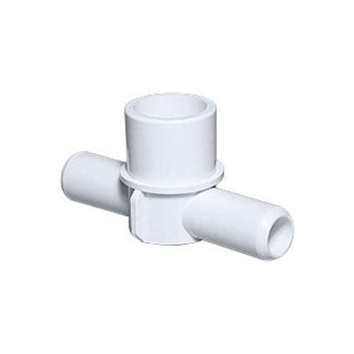 """PVC Adapter Tee - 1""""Spigot x 3/4""""SB x 3/4""""SB"""