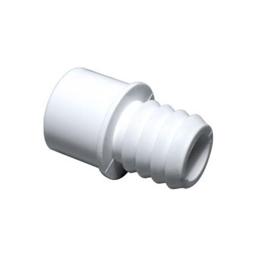 "PVC Adapter - 1"" Slip/ 1-1/4"" Spigot x 3/4"" Barb"
