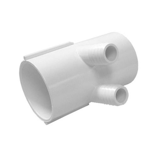 "Waterway Manifold Shur Grip - 2"" S x 2""S x (2) 3/4"" Barb"