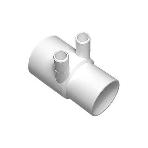 "Waterway Manifold Shur Grip - 2"" S x 2""SP x (2) 3/4"" Barb"
