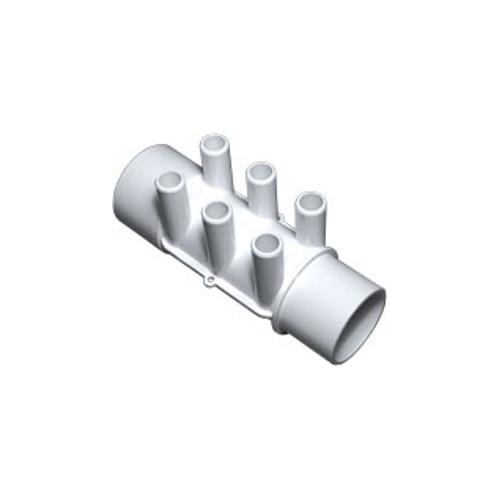 "Waterway Manifold Shur Grip - 2"" S x 2""SP x (6) 3/4"" Barb"