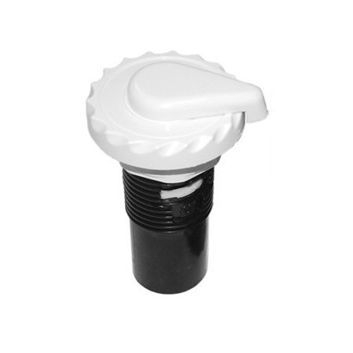 Waterway Air Control Valve, Lever Style Scalloped - White