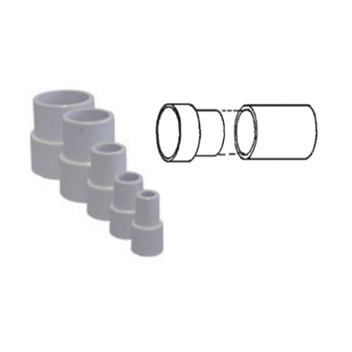 "White PVC Pipe Extender for 3"" Pipe"
