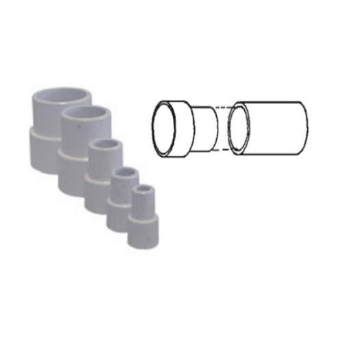 "White PVC Pipe Extender for 2-1/2"" Pipe"