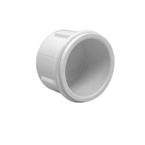 """White PVC Pipe Cap - 3/4"""" Slip"""