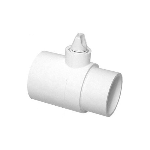 "White PVC Union Tee 2"" S x 2"" SP with Air Relief Plug"