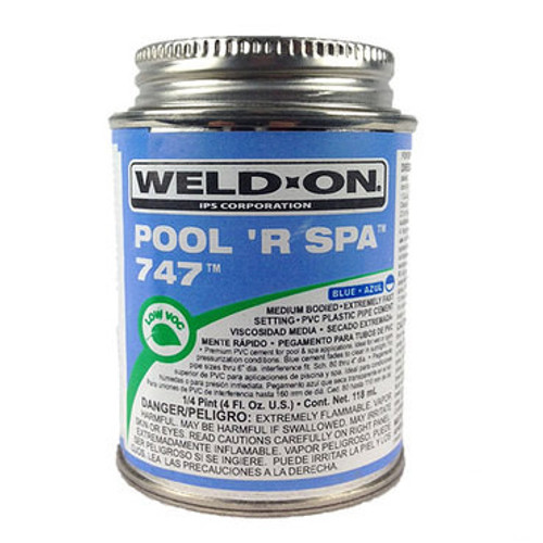747 PVC Cement Blue Pool 'R Spa - 1/4 Pint