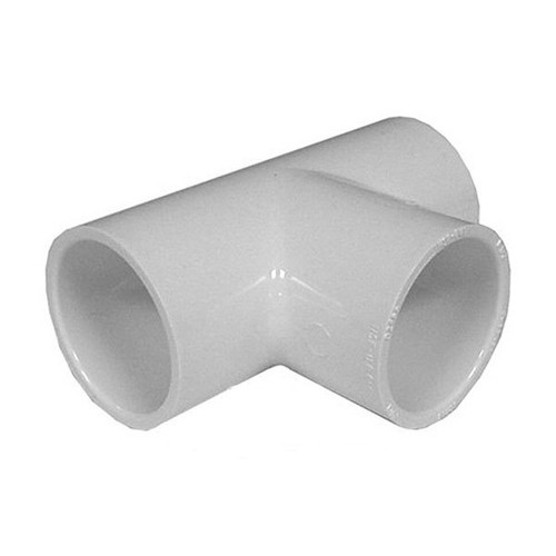"""White PVC TEE  2-1/2"""" Slip x 2-1/2"""" Slip x 2-1/2"""" Slip"""