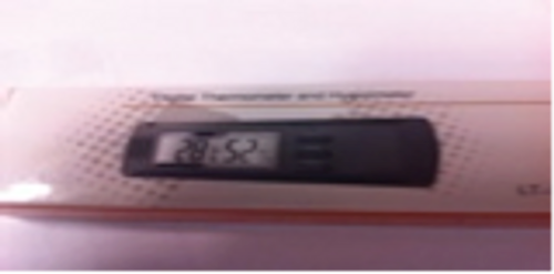 Digital thermometer/hygrometer