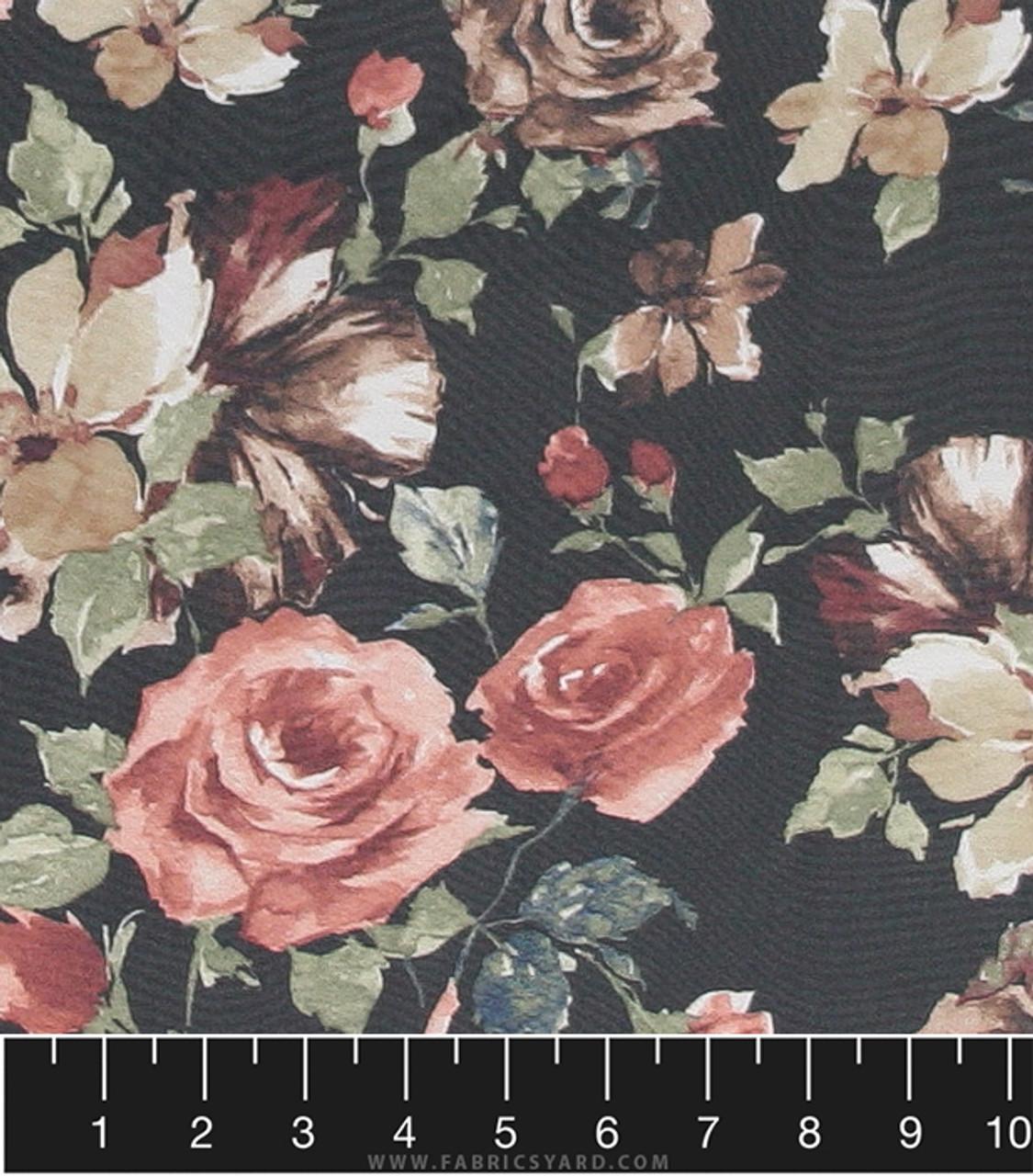 Floral Woven Hi Multi Chiffon Fabric Hi Multi Ptf510