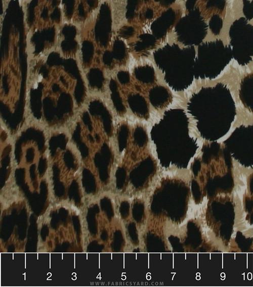 Animal Print Knit Liverpool Fabric - Liverpool A044 Taupe - Fabrics ...
