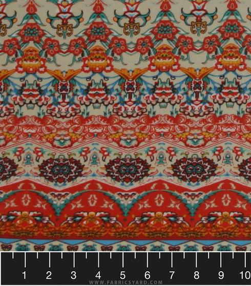 Aztec Bohemian Knit Medallion Fabric Liverpool Az169